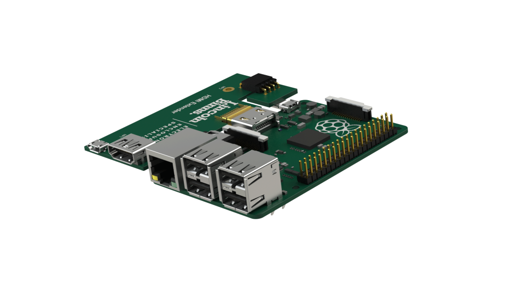Extender plugged in Raspberry Pi 3