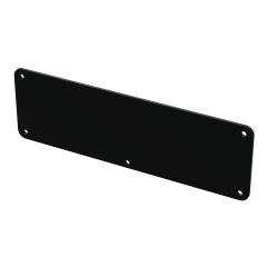 E-Case D - End Plate - Black - 5 Hole