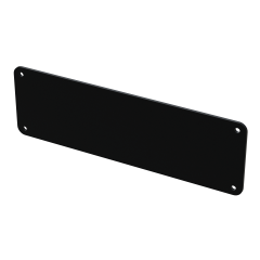 E-Case D - End Plate - Black - 4 Hole