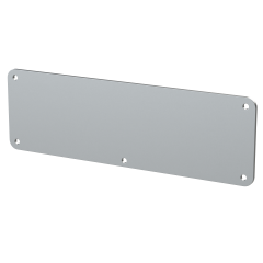 E-Case D - End Plate - Silver - 5 Hole