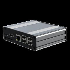Pi-Box Pro - POE - Silver - No SD Access