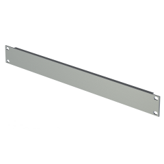 "19"" Rack Extruded Panel-Silver-1U"