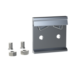E-Case A/B - DIN Rail Clip Kit - Silver